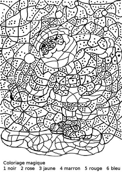 dessin à colorier magique noel maternelle à imprimer