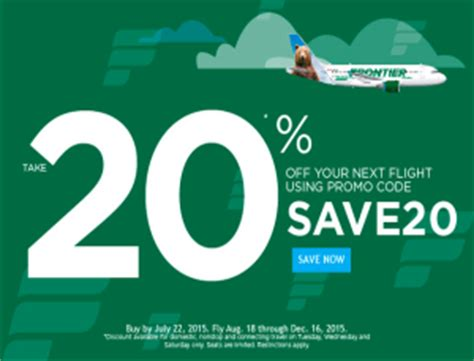 Frontier Gift Card Promotion - frontier airlines promo 20 off flights