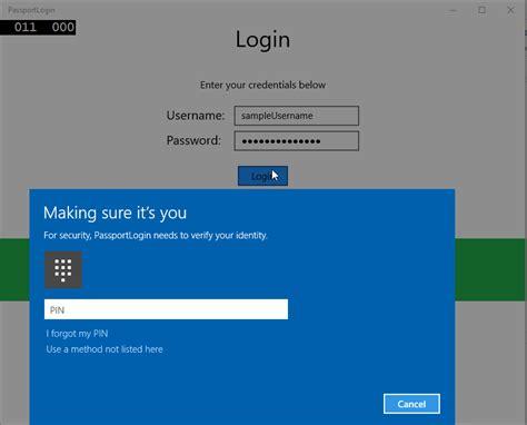 tutorial uwp creare un servizio di accesso con microsoft passport
