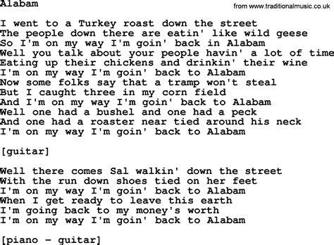 song lyrics willie nelson willie nelson song alabam lyrics