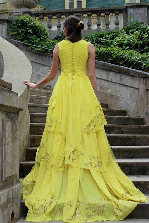 belle of the ball dresses belle s 2017 gold yellow ballgown dress from beauty the