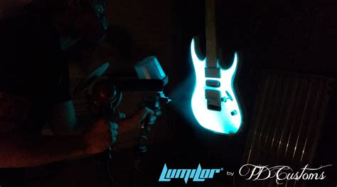 Light Up Paint by Electroluminescent Painted Guitar Td Customs Lumilor Lab
