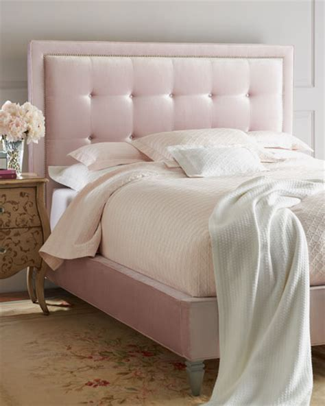 pink bed headboard haute house callista pink velvet beds