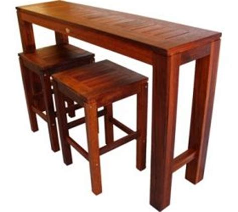 Outdoor furniture long narrow kwila timber bar setting daydream leisure furniture s outdoor