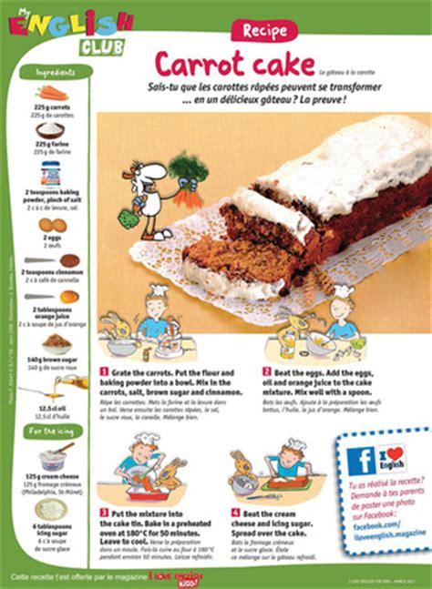 recette cuisine en anglais recette facile en anglais le carrot cake i
