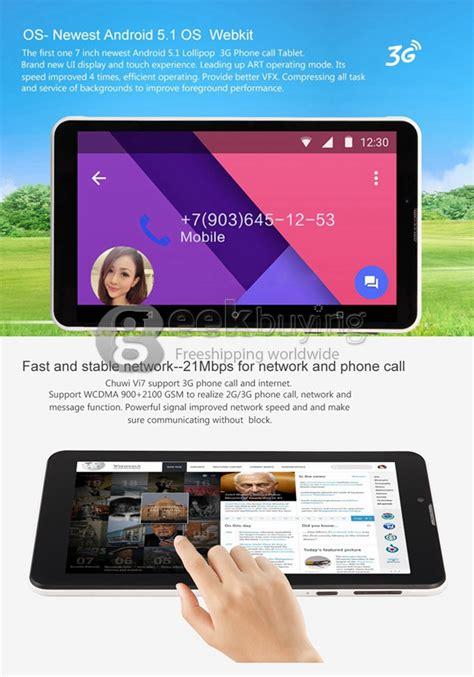 Kaca Touchscreen Chuwi Vi7 3g chuwi vi7 android 5 1 lollipop 3g 2g phone call tablet pc