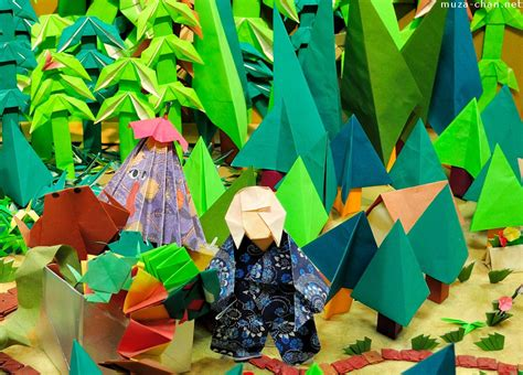 Origami Museum Tokyo - japanese traditions umbrella ghost origami version