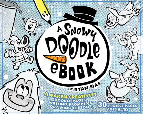 free doodle ebook a snowy doodle ebook by sias giveaway 30 pages of
