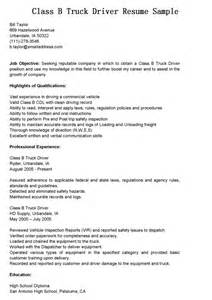 truck drivers resume sample latest resume format