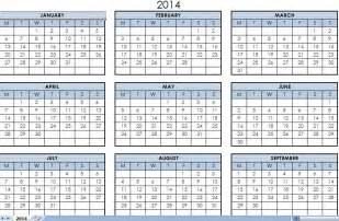 excel calendar templates 2014 printable one year calendar calendar template 2016
