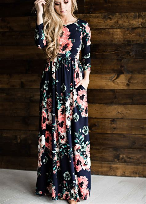 Flowery Dress By Delima Style womens floral easter dresses