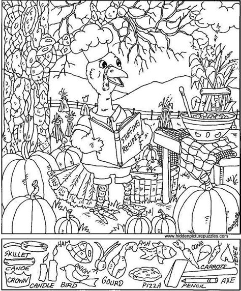 Free Printable Hidden Pictures Thanksgiving | free puzzles