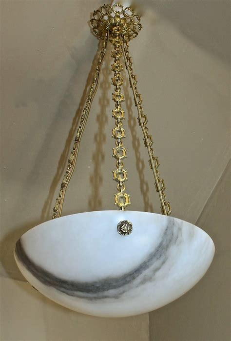 alabaster ceiling pendant light at 1stdibs