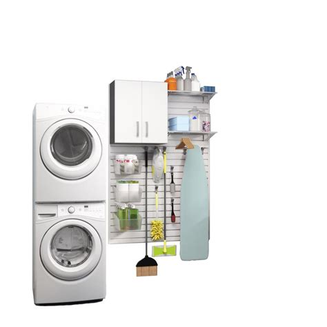 Laundry Room Accessories Storage Flow Wall Modular Laundry Room Storage Set With Accessories In White 16 Fcs 4812 1w
