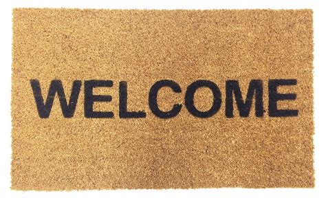 Welcome Mats Vinyl Backed Welcome Coco Doormat Coco Mats N More