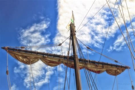 ship mast wooden ship nina main mast photograph by thomas woolworth