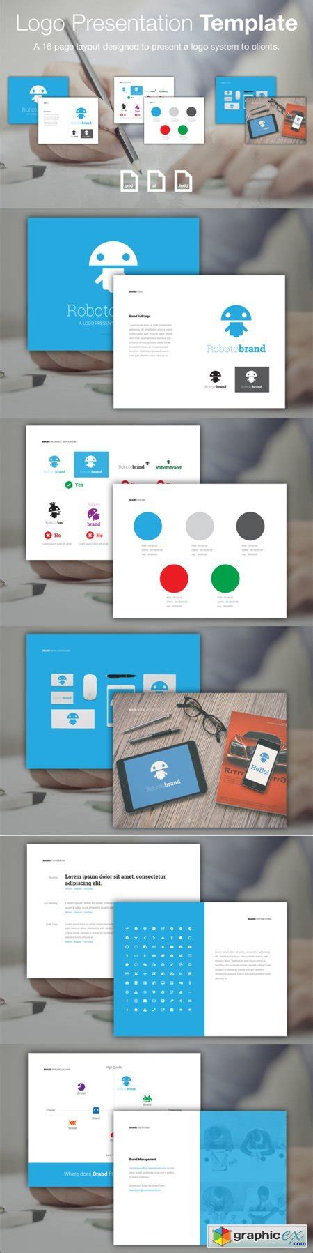 logo presentation template 187 free download vector stock