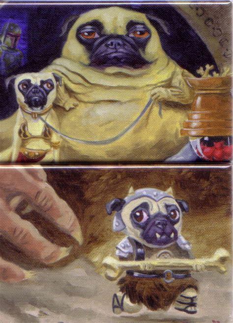 jabba the hutt pug jabba the pug and gamorrean pug magnets by brian rubenacker mighty jabba s collection