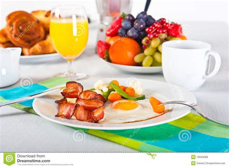 how to set a table for breakfast breakfast table royalty free stock photos image 18933088