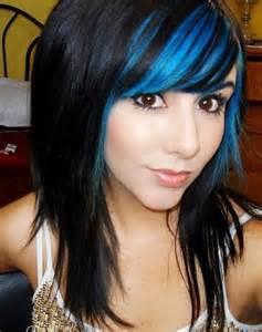 color streaks blue streaks in light brown hair brown hairs