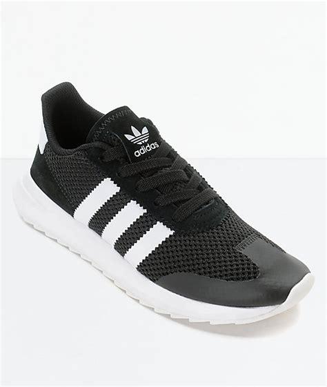 adidas flashback black white womens shoes zumiez