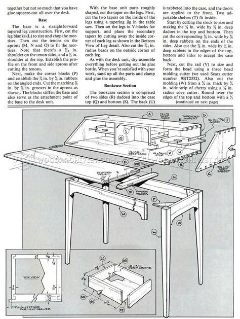 21 popular secretary desk plans woodworking free egorlin com
