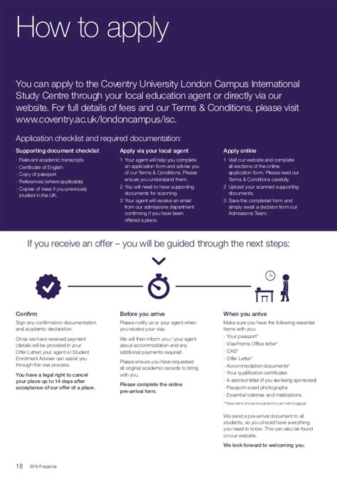 Coventry Mba Entry Requirements by Coventry 20829 Culc Isc Brochure 2016 Lr
