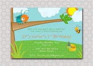 bug birthday invitation as a bug birthday invite