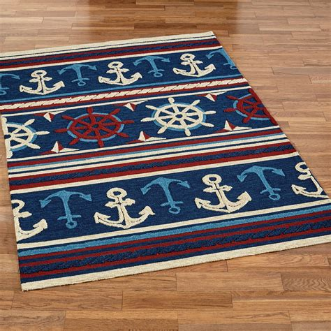 nautical rugs sailing away nautical indoor outdoor rugs