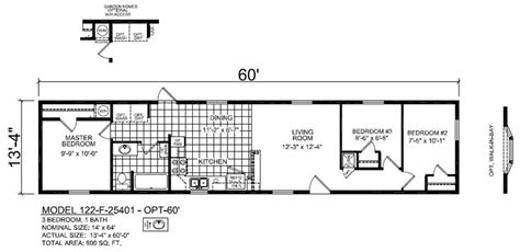 14x60 mobile home floor plans f25401 60 single sectional ranch ridge crest home sales
