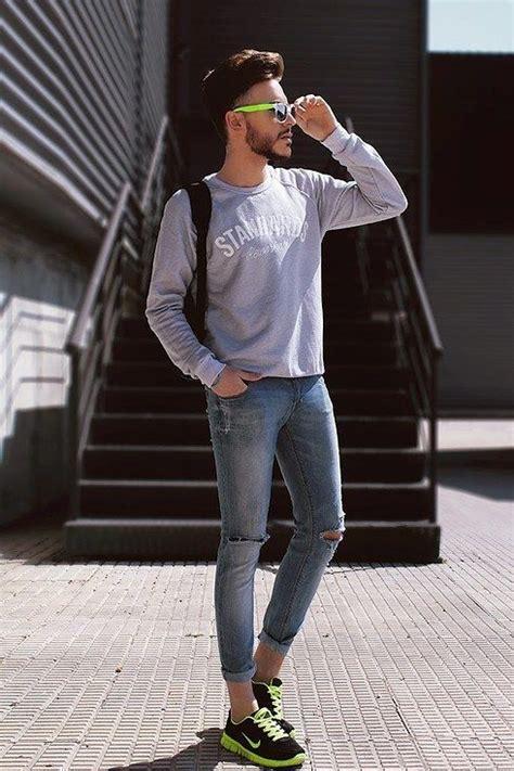 zapatillas  usar  jeans hombre como organizar la