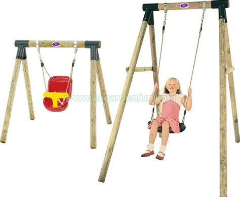 swing sets with baby swing plum 2 in 1 wooden swing set baby and children homely