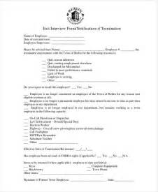 exit interview form 9 free pdf word documents download