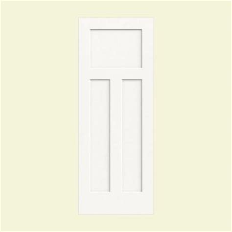 3 Panel Craftsman Interior Door Jeld Wen 28 In X 80 In Molded Smooth 3 Panel Craftsman Brilliant White Hollow Composite