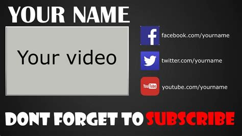 free outro template sony vegas pro 11 12 13 free download