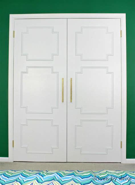 remodelaholic add molding to update closet doors