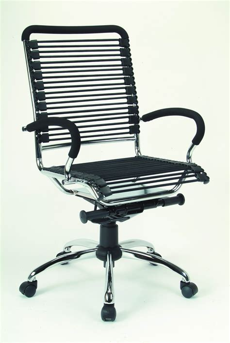 Metal Office Chair by Furniplanet Buy Black Chrome Metal Bungee Cord