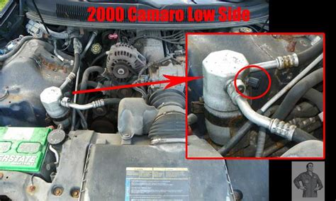 automobile air conditioning service 1985 suzuki cultus engine control 2000 chevrolet camaro low side port for a c recharge acprocold acpro r134a refrigerant