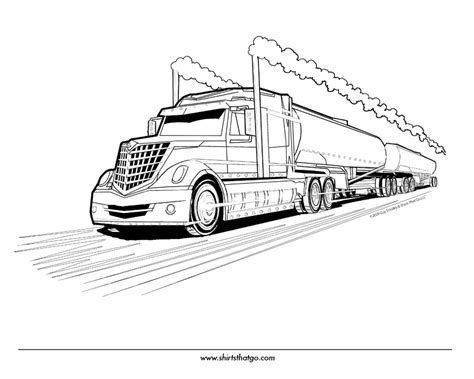 free coloring pages of truck with boat trailer