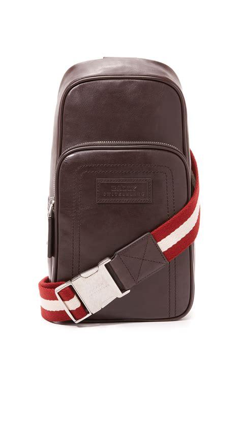 Bally Bezin Sling Bag lyst bally thoma sling bag in brown for