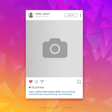 layout from instagram descargar gratis marco de colores de instagram descargar vectores gratis