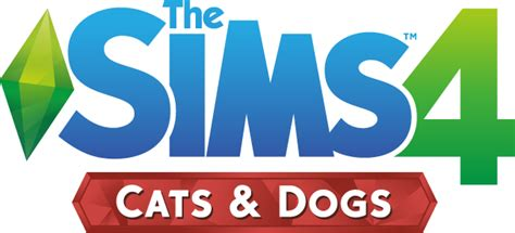sims 4 logo transparent the sims 4 cats dogs expansion official logo box art