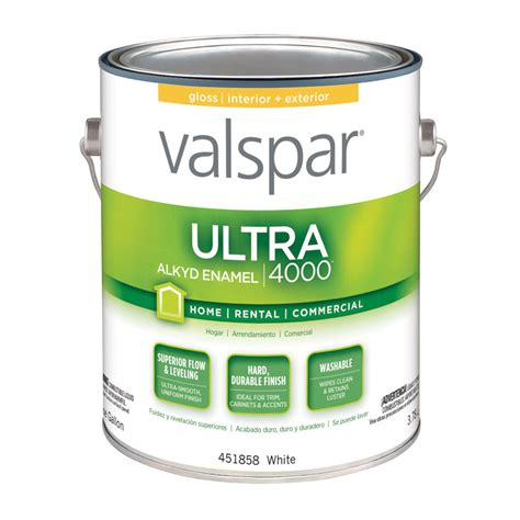 best exterior based paint shop valspar ultra 4000 white gloss based enamel