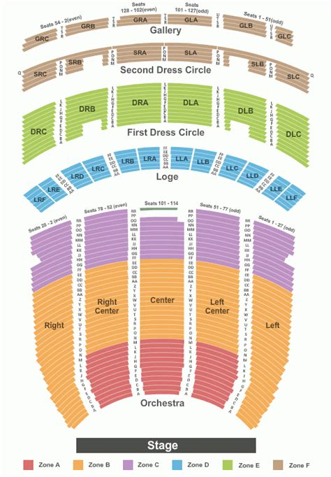 fox seating chart st louis fox theater st louis seating chart with seat numbers