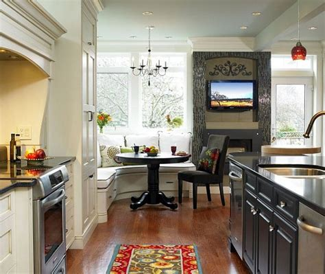 corner breakfast nook design idea contemporary kitchen