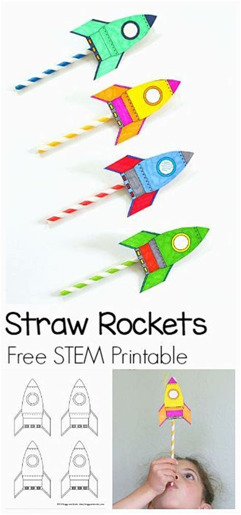 straw template stem activities rockets and activities for on