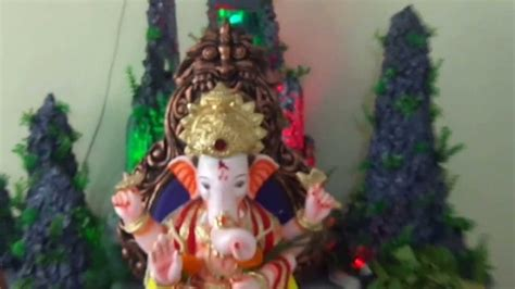home ganpati bappa decoration pune ganpati darshan