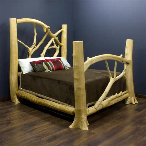 Wood Log Bed Frame How To Make A Log Bed Frame Make Log Furniture Any Way You Like It Logfurniturehowto How To