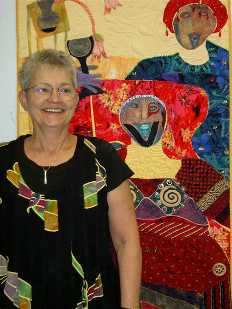pamelala teaches at quilting adventures aq on the edge