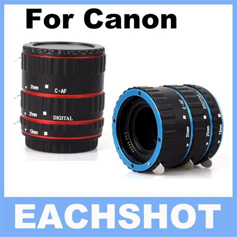 Extension Ring Lensa Canon Limited aliexpress buy blue metal auto focus af macro extension ring for canon ef s